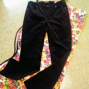 New! TALBOT Black Velvet Pants, Size 6